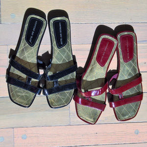 Bundle of Slide Sandals Preowned